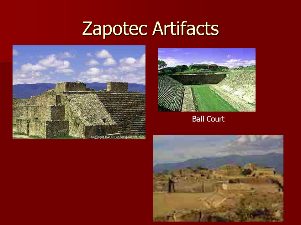Zapotec Artifacts Ball Court