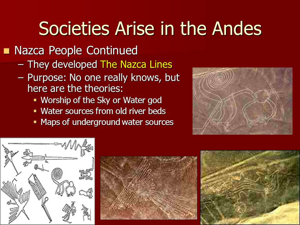 Societies Arise in the Andes