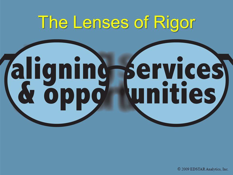 © 2009 EDSTAR Analytics, Inc. The Lenses of Rigor