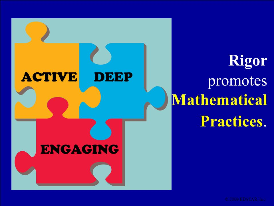 promotes Mathematical Practices.