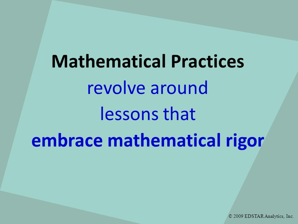 embrace mathematical rigor