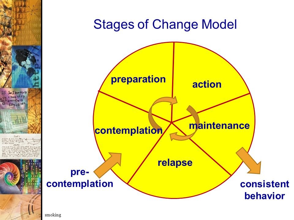 Stages of Change Model preparation action maintenance contemplation