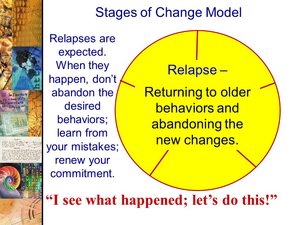 Returning to older behaviors and abandoning the new changes.