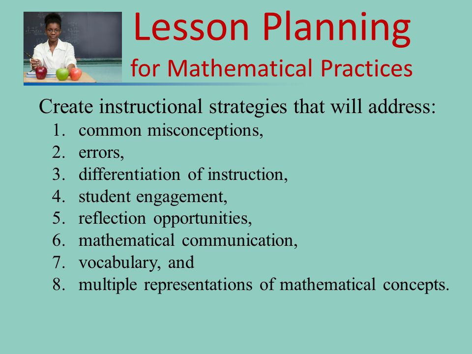 Lesson Planning for Mathematical Practices