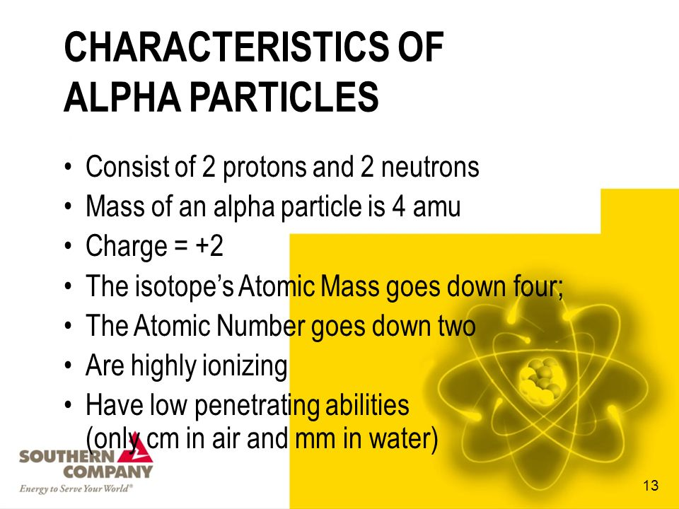 CHARACTERISTICS OF ALPHA PARTICLES