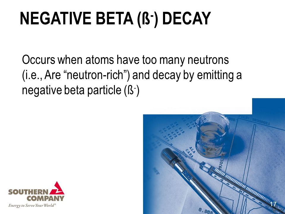 NEGATIVE BETA (ß-) DECAY