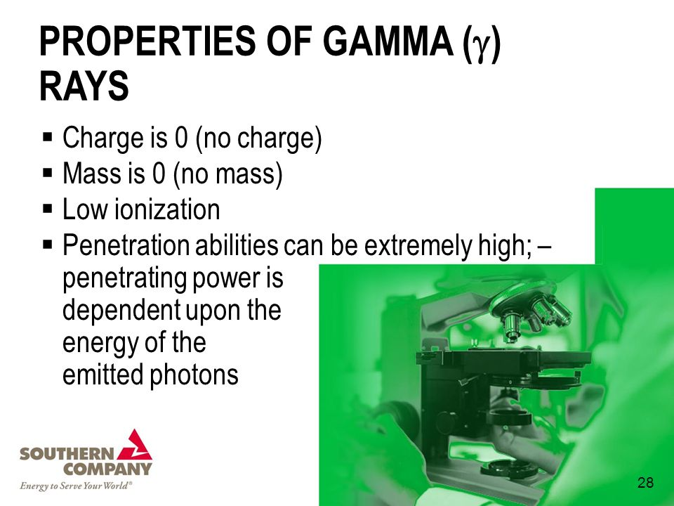 PROPERTIES OF GAMMA () RAYS