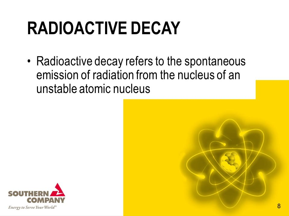 RADIOACTIVE DECAY Radioactive decay refers to the spontaneous emission of radiation from the nucleus of an unstable atomic nucleus.
