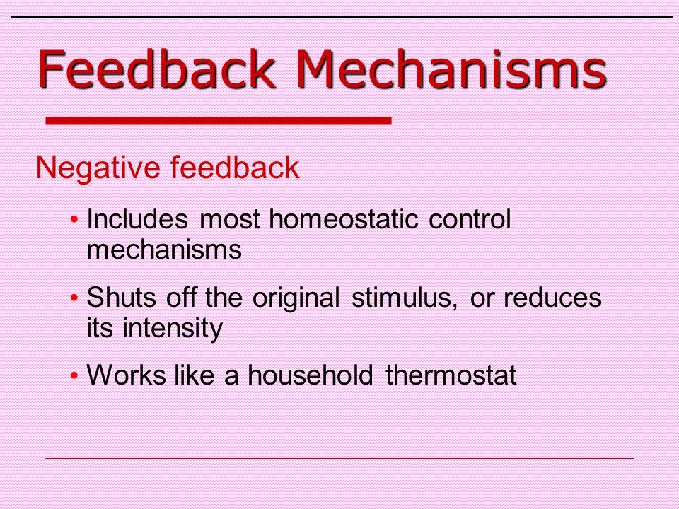 Feedback Mechanisms Negative feedback