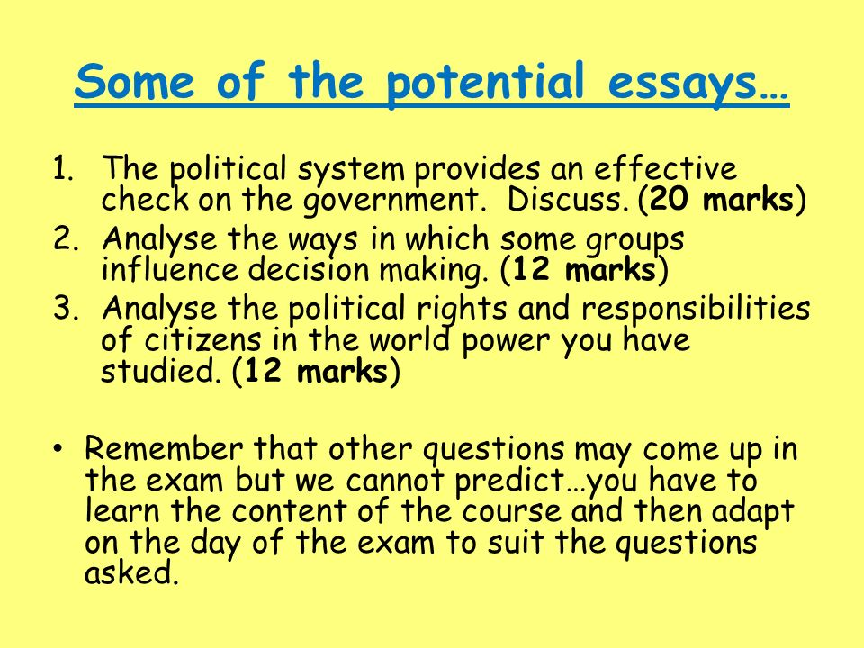 political policy essay
