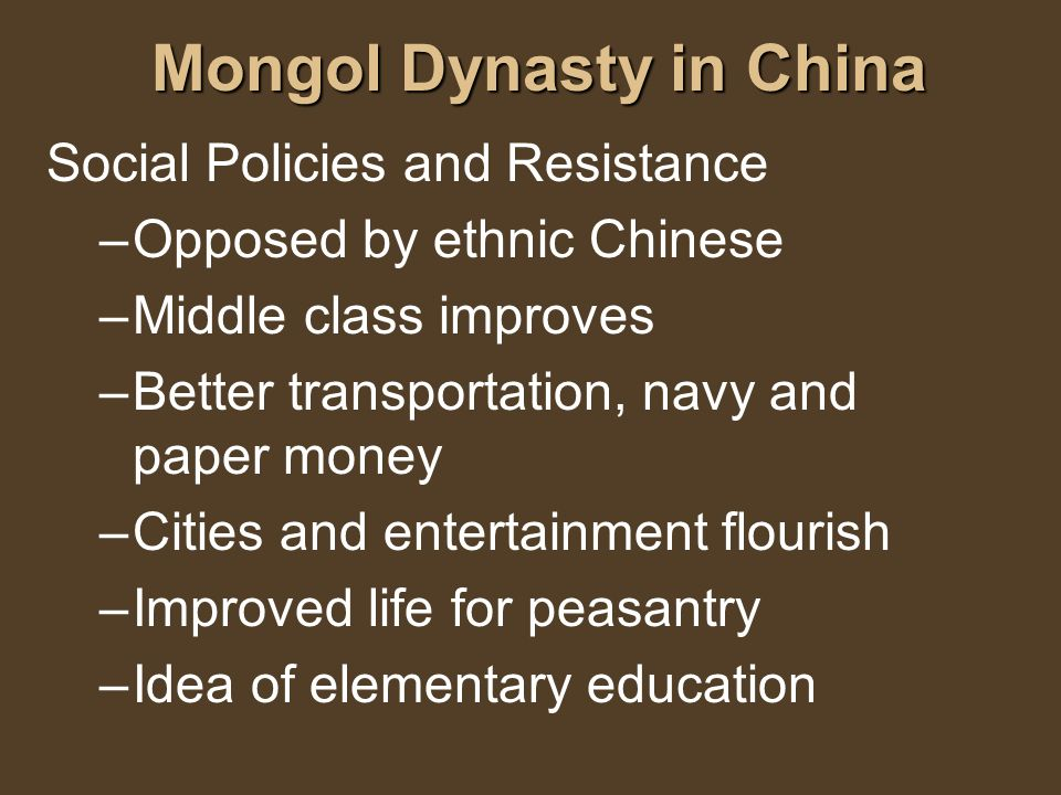 Mongol Dynasty in China