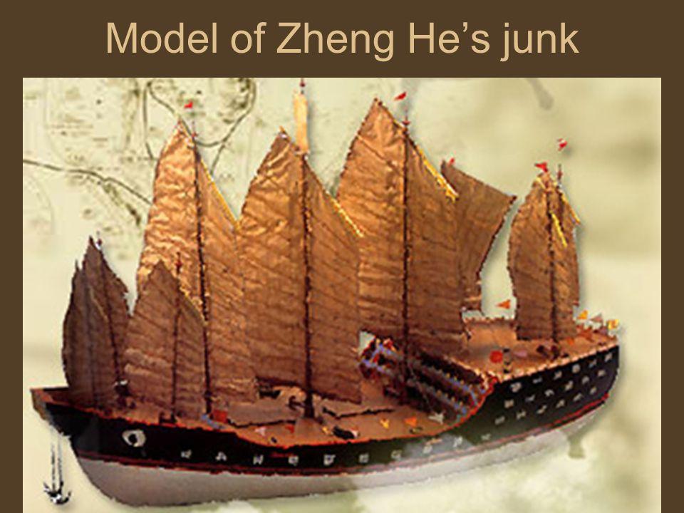 Model of Zheng He's junk