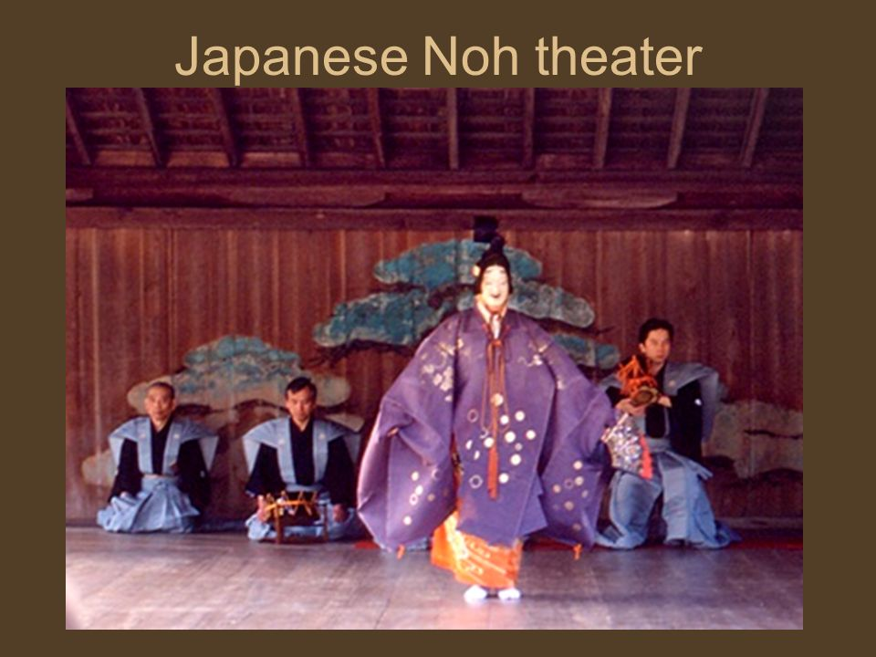 Japanese Noh theater Masked males play male & female parts