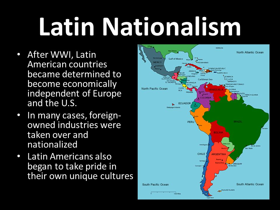 nationalism in africa and latin america Nationalism, revolution, and dictatorship: africa, asia, and latin america from 1919 to 1939 - powerpoint ppt presentation.