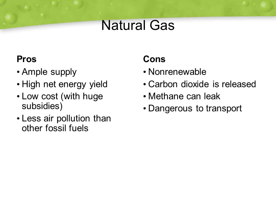 Energy Released From Natural Gas