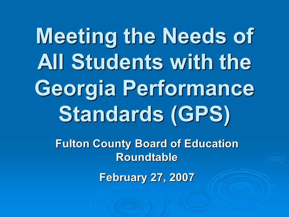 Fulton County Board of Education Roundtable