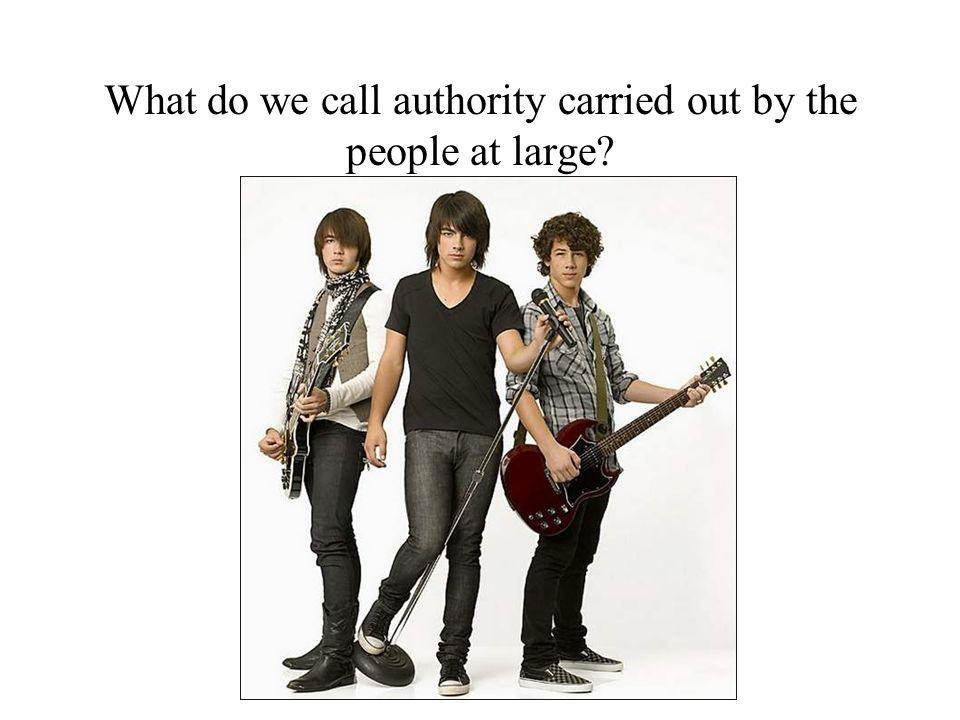 What do we call authority carried out by the people at large