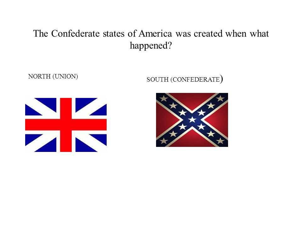 The Confederate states of America was created when what happened