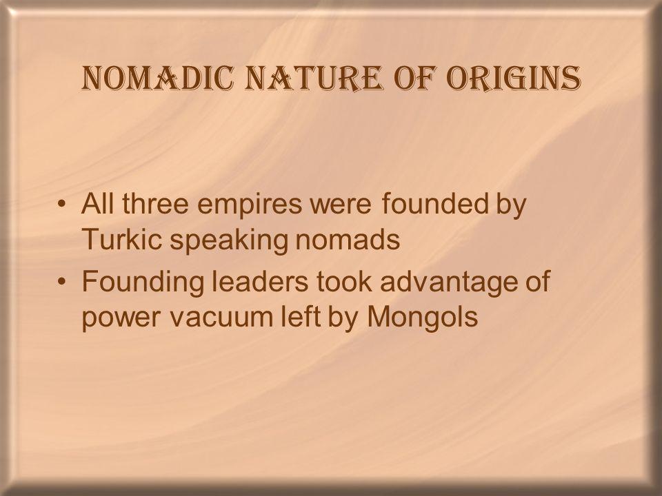 Nomadic Nature of Origins