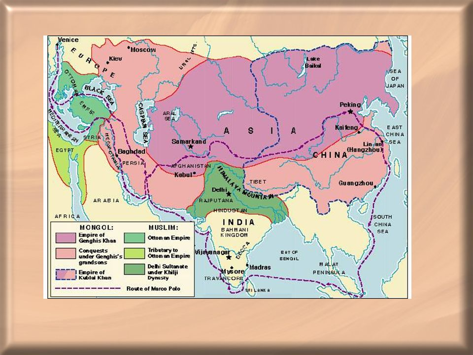 Mongol Empire at its height.