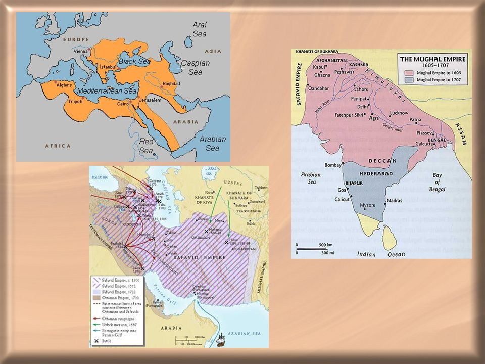 Ottoman, Safavid and Mughal empires at their height
