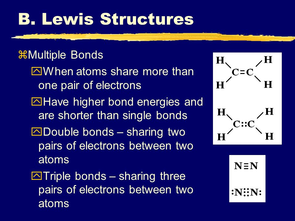 B. Lewis Structures Multiple Bonds