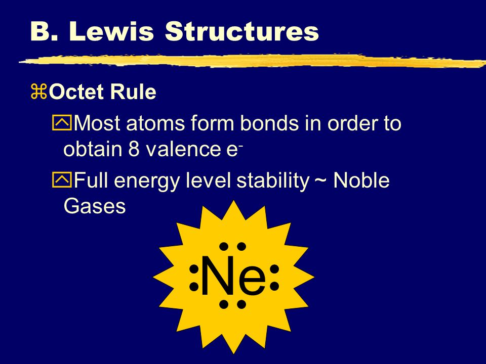 Ne B. Lewis Structures Octet Rule