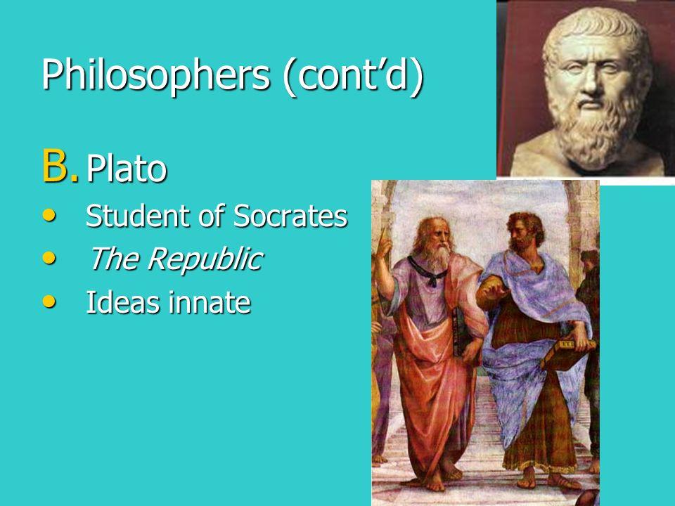 Philosophers (cont'd)