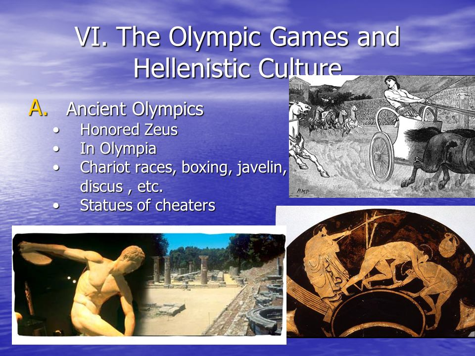 VI. The Olympic Games and Hellenistic Culture