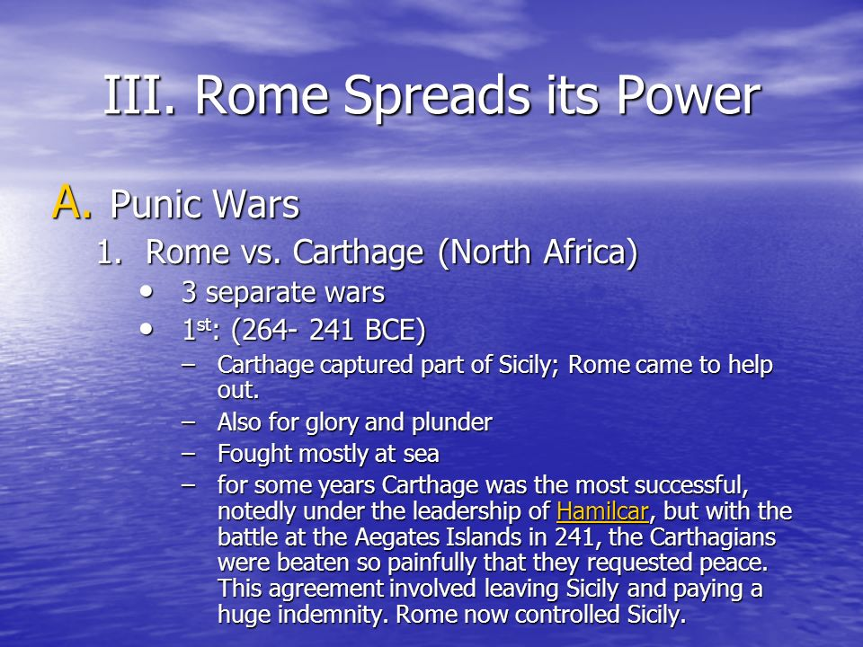 III. Rome Spreads its Power
