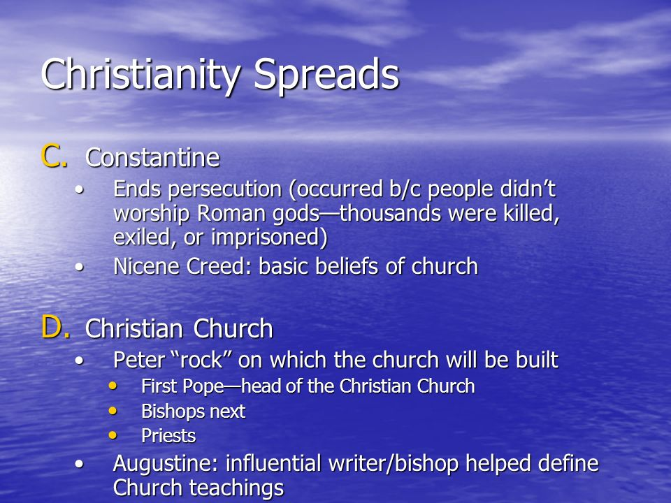 Christianity Spreads Constantine Christian Church