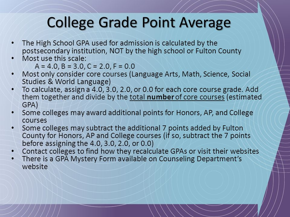 College Grade Point Average
