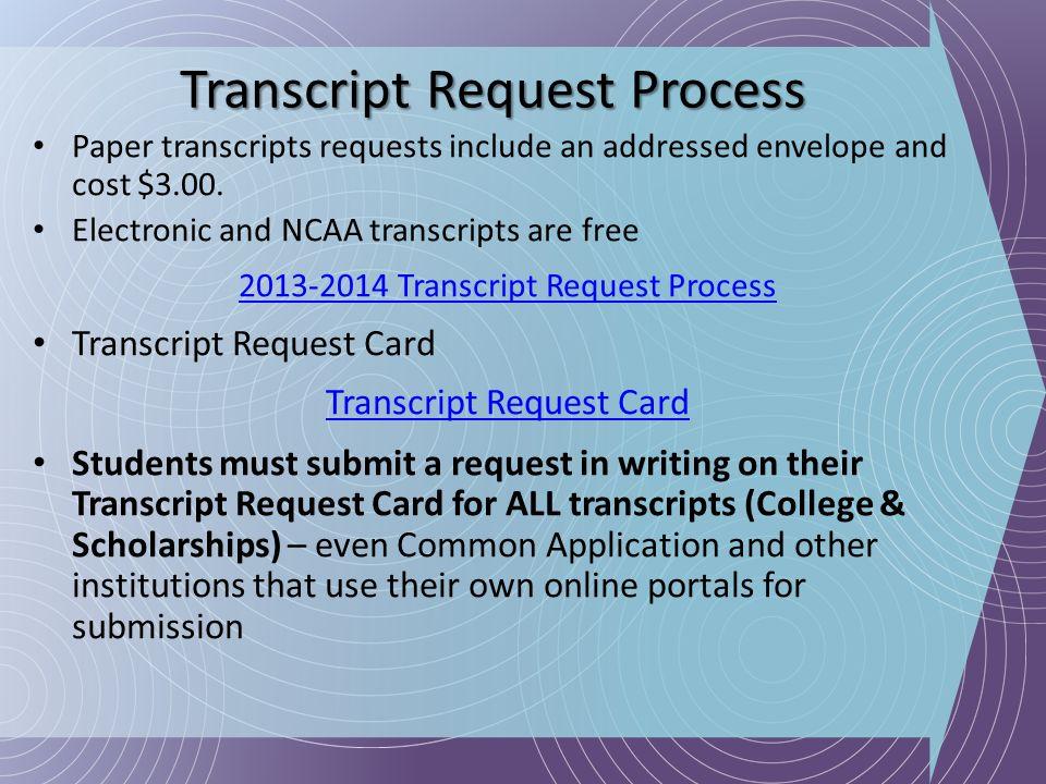 Transcript Request Process