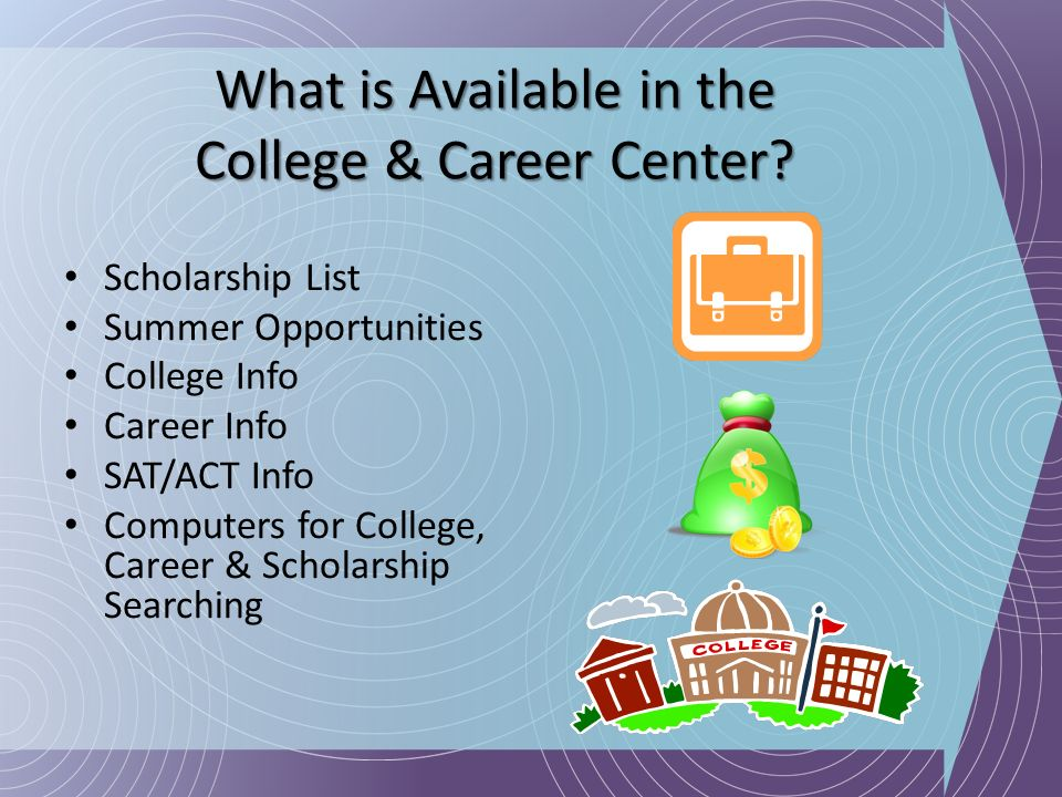 What is Available in the College & Career Center
