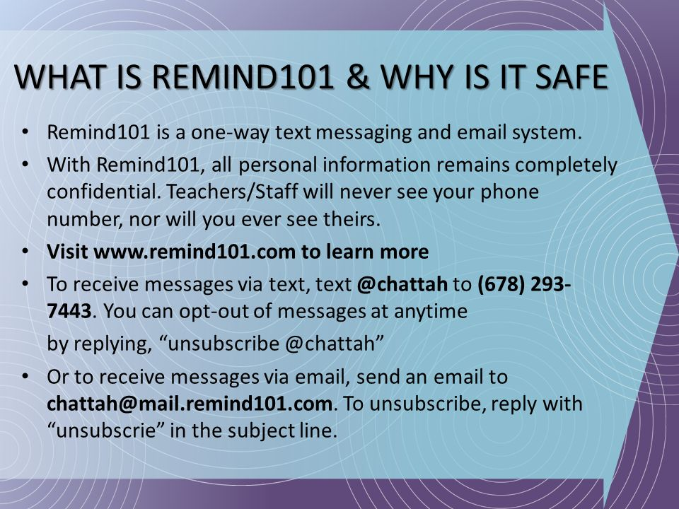WHAT IS REMIND101 & WHY IS IT SAFE