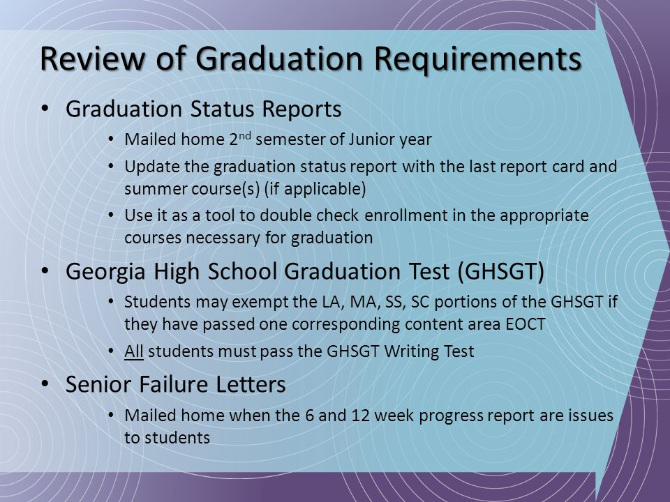 Review of Graduation Requirements