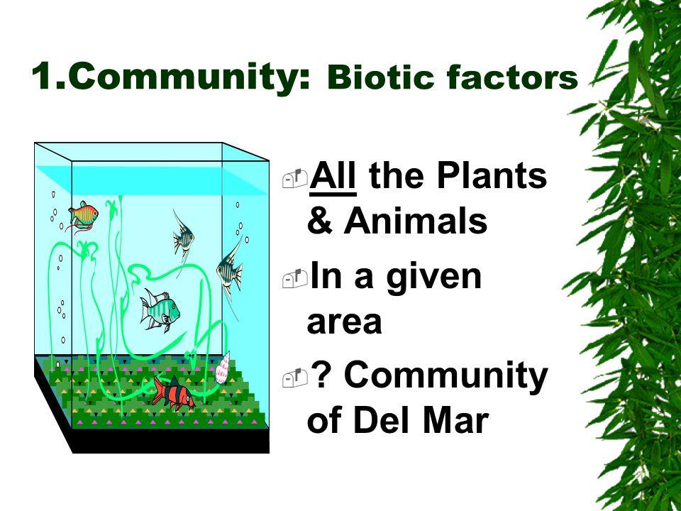 1.Community: Biotic factors