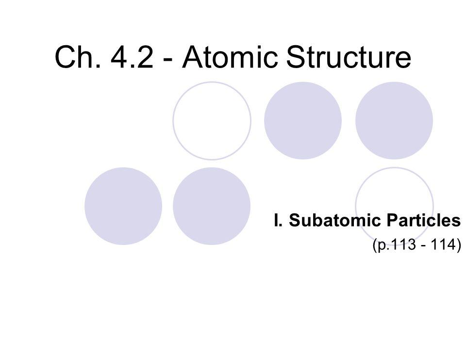 I. Subatomic Particles (p.113 - 114)