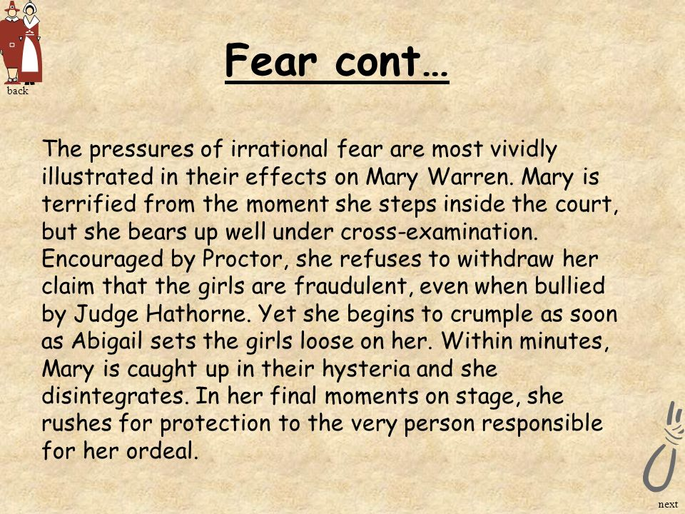 Fear cont… back.