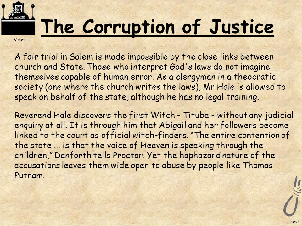 The Corruption of Justice