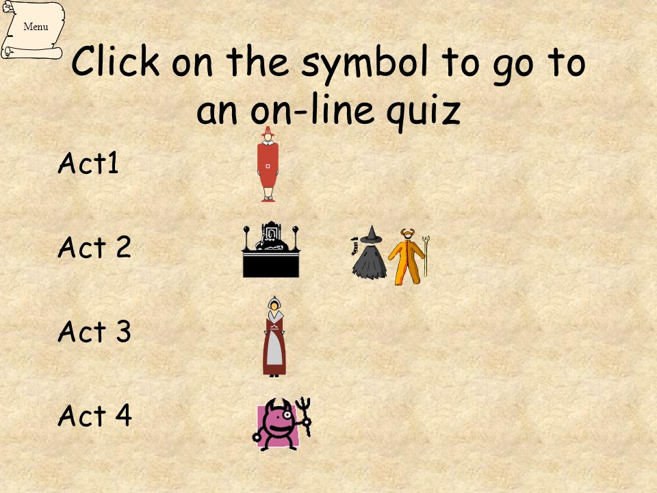 Click on the symbol to go to an on-line quiz