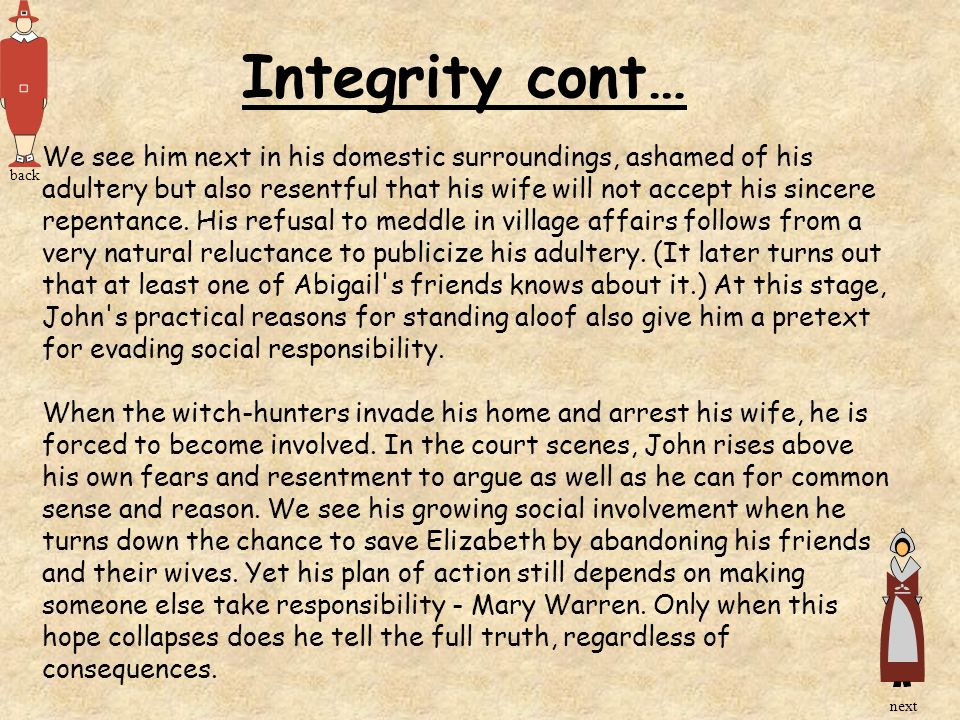 Integrity cont…