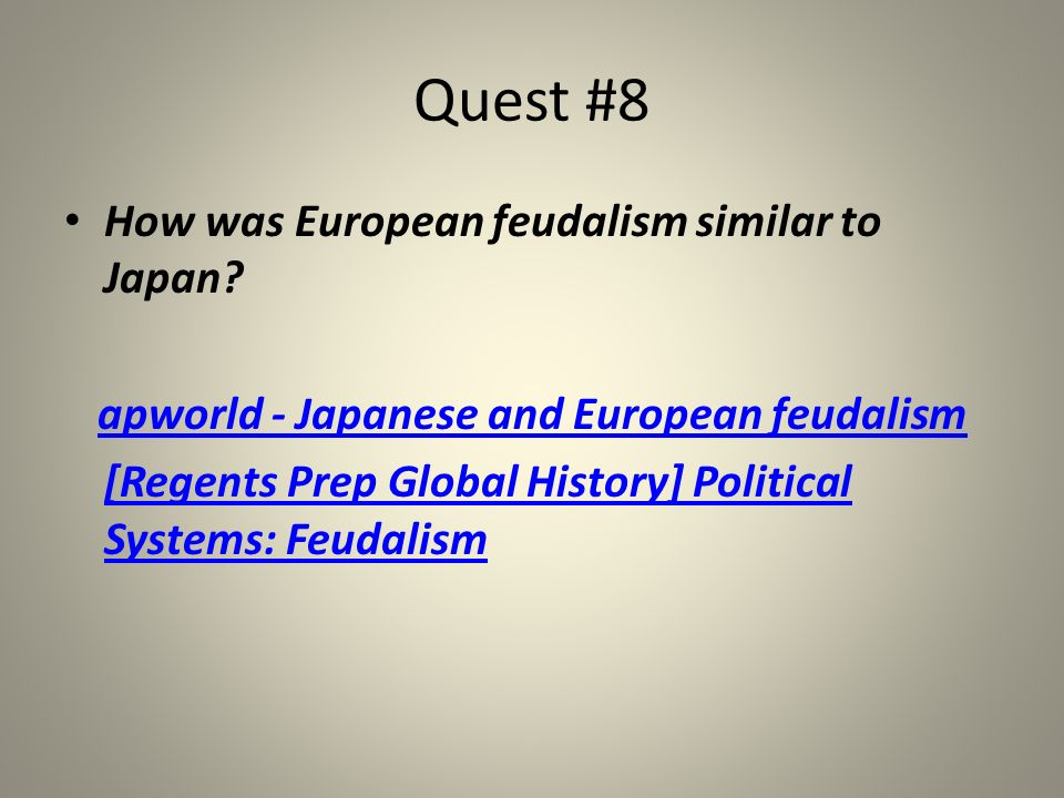 apworld - Japanese and European feudalism