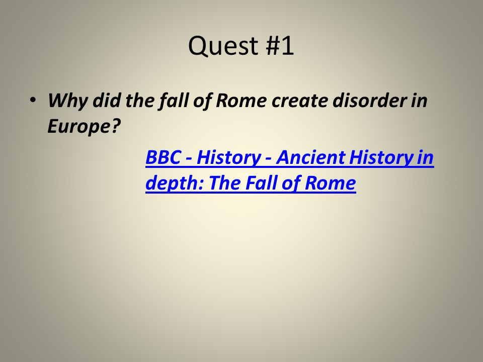 BBC - History - Ancient History in depth: The Fall of Rome