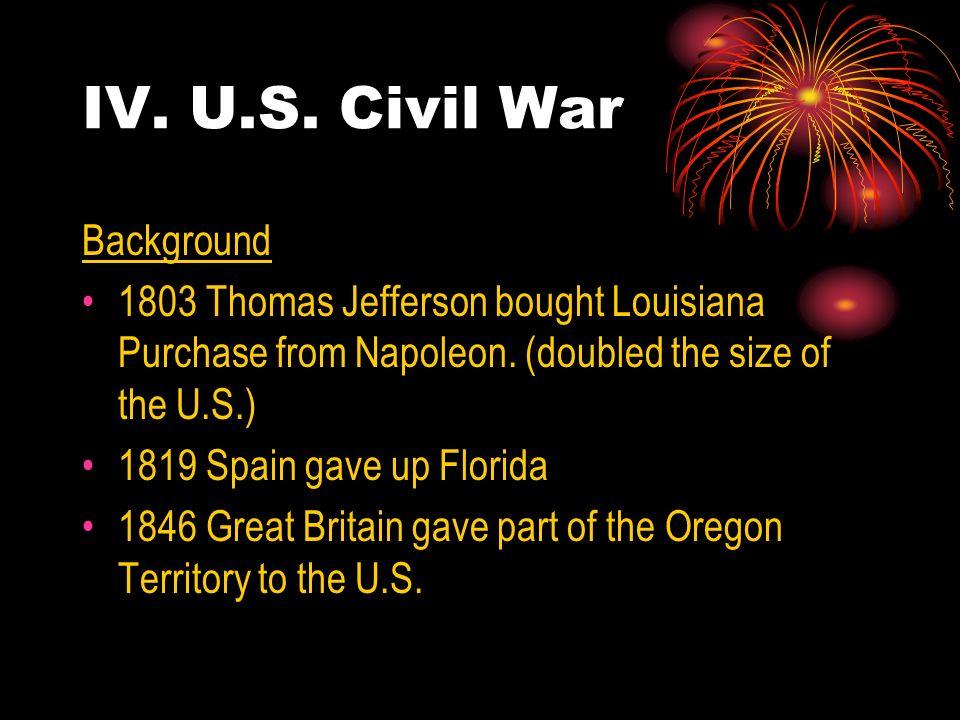 IV. U.S. Civil War Background