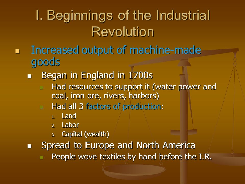an overview of the industrial revolution in europe and north america Drawing on centuries of philosophy and scientific advancements, mokyr argues that there's a reason the industrial revolution occurred in europe and not, for example, in china, which had in previous centuries shown signs of that came out of western europe and its offshoot in north america after 1800.
