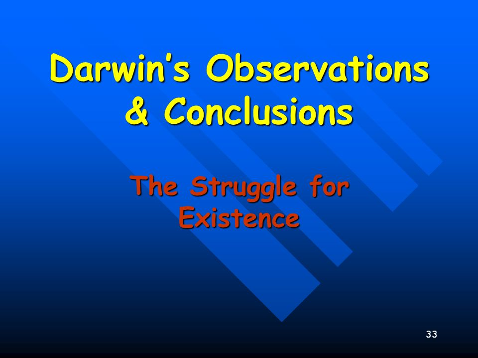 Darwin's Observations & Conclusions