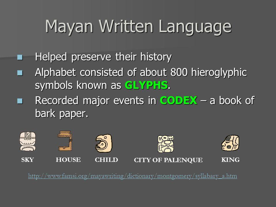 Mayan Written Language