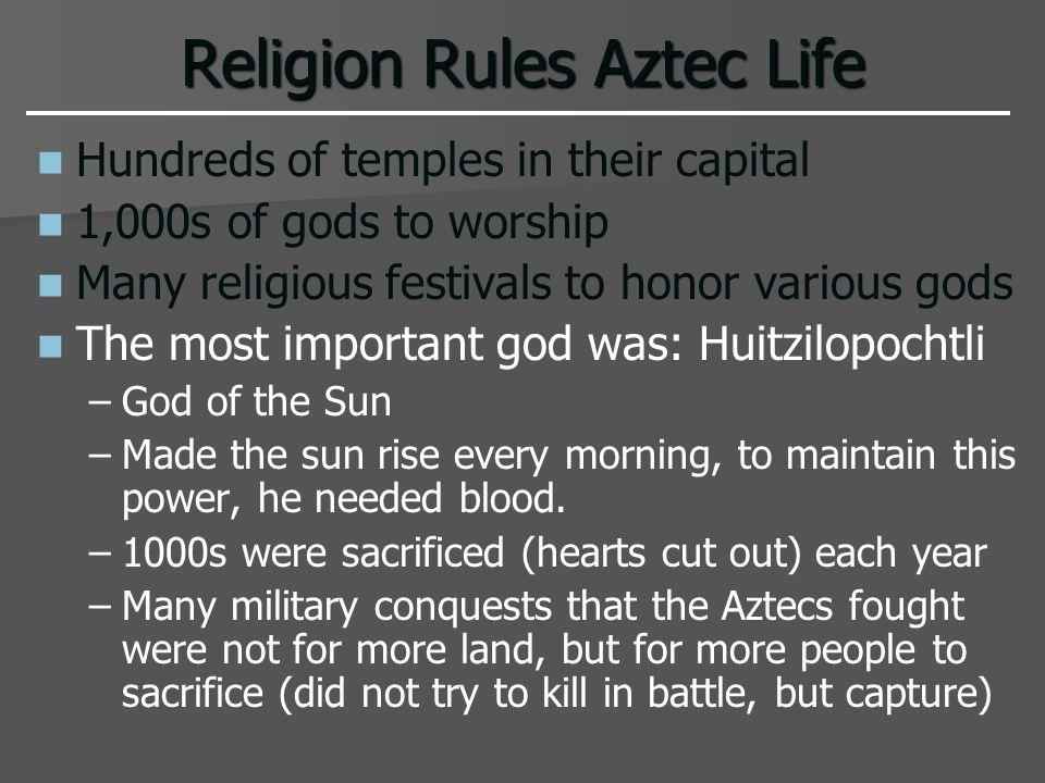 Religion Rules Aztec Life