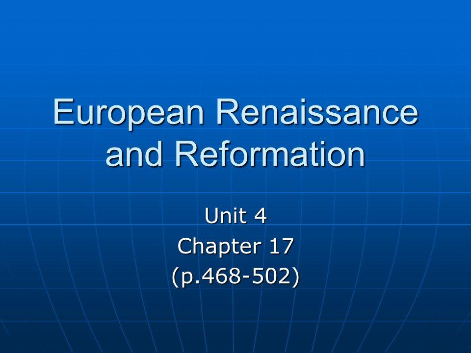 European Renaissance and Reformation